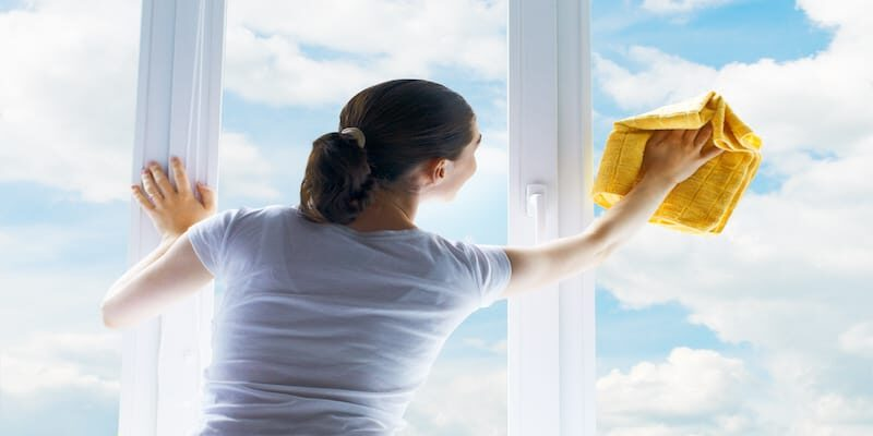 tips for cleaning hard to reach windows